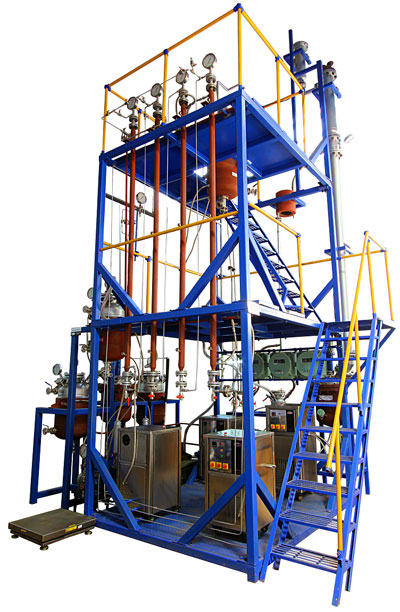 Mini Petrochemical Plant : Skid mounted pilot plant process equipment